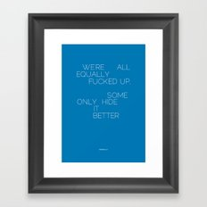 Equally Framed Art Print