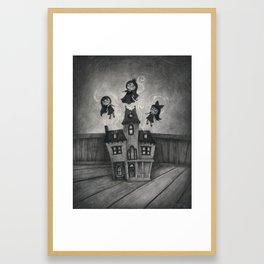 Haunted Doll House Framed Art Print