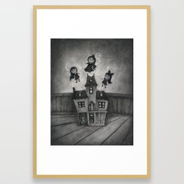 Haunted Doll House Framed Art Print