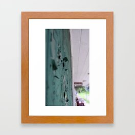 weathered wall Framed Art Print