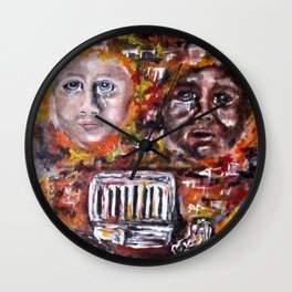 Vandalized Legacy Wall Clock