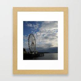 Seattle Great Wheel - Ferris Wheel on the Pier Framed Art Print