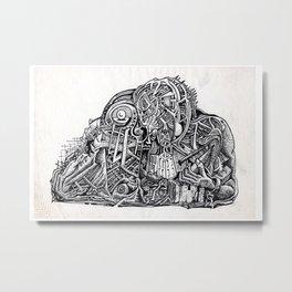 Psycho Warrior, by Brian Benson Metal Print