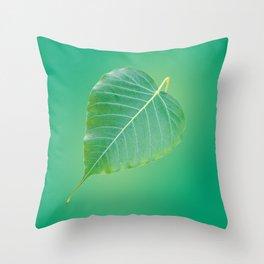 Bodhi Leaf Throw Pillow