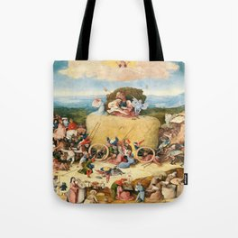 The Haywain Triptych by Bosch 1519 Tote Bag
