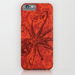 Red Tribal Octopus iPhone Case