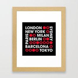 I Love This City Typography Black Framed Art Print