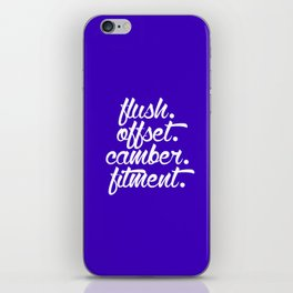 flush offset camber fitment v6 HQvector iPhone Skin