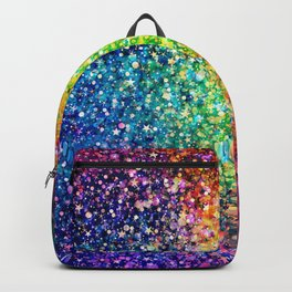 Colorful faux glitter print Backpack