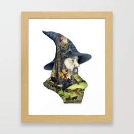 Story of the wizard of the rings Framed Art Print