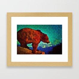 Exploring Brown Bear Framed Art Print