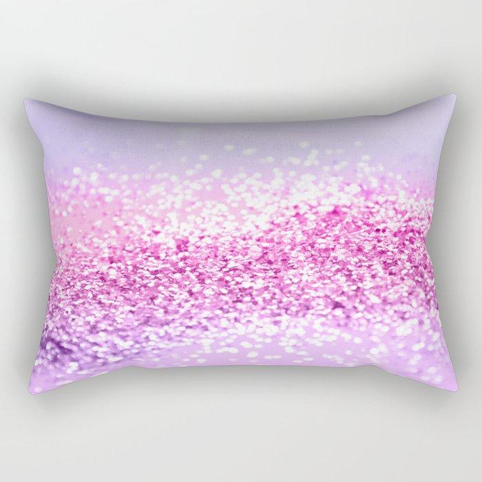 Pink Purple MERMAID Girls Glitter #1 #shiny #decor #art #society6 Rectangular Pillow