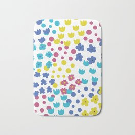 Flowers and Dots Galore Bath Mat