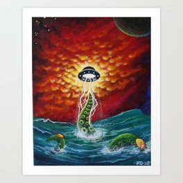 Planet Octopoda Art Print