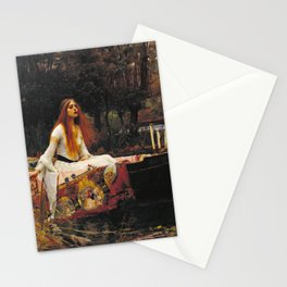 John William Waterhouse - The lady of shalott Stationery Cards
