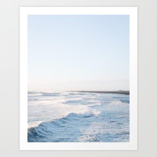 Golden waves - Iceland | landscape - photography - travel - nature - print - photo Art Print
