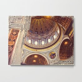 Patterns of Places - Vatican Metal Print