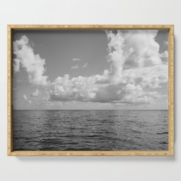 Monochrome Ocean View Serving Tray