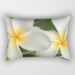 Tropical Hawaiian Island Plumeria Flowers Close-Up Art Photo Rectangular Pillow