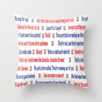 seinfeld Throw Pillows featuring Seinfeld quotes by Dr. Spaceman40