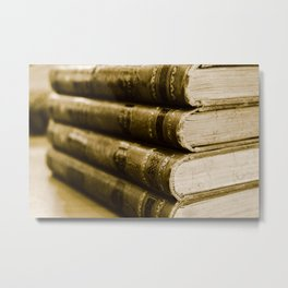 A Stack of Old Books Metal Print