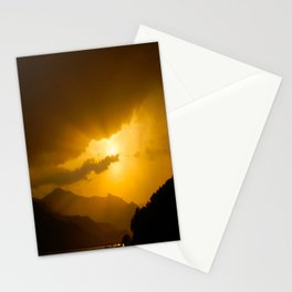 Lake Phewa Sunset, Lakeside, Pokhara, Nepal Stationery Cards