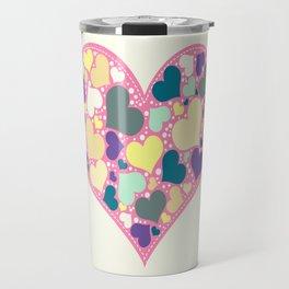 Hearts and Dots Travel Mug