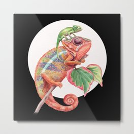 Panther Chameleon Painting #83 Metal Print