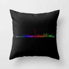 Toronto Rainbow Throw Pillow