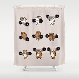 OLYMPIC LIFTING English Bulldog Shower Curtain