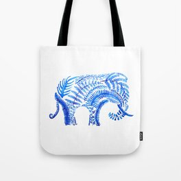 blue elephant watercolor Tote Bag