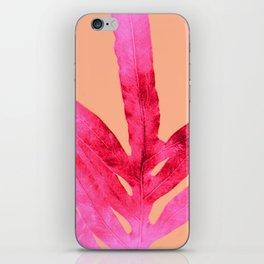 Peach Pink Ferns, Living Coral iPhone Skin