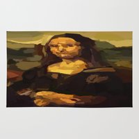 mona lisa Area & Throw Rugs featuring Mona Lisa by Robert Morris
