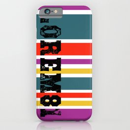 Lorem81 Stripes  iPhone Case