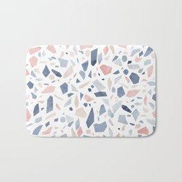 Terrazzo vintage pastel blue pink Bath Mat