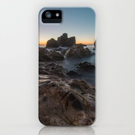 Last light on the sea horizon iPhone Case