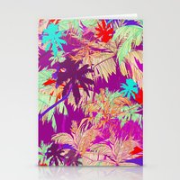 palm trees Stationery Cards featuring Palm Trees by Marcella Wylie