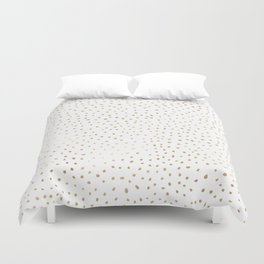 Dotted Gold Duvet Cover
