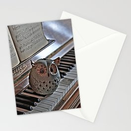 the pianos Owl HDR Stationery Cards