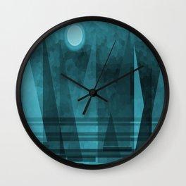 Blue Moonlight Sail Wall Clock