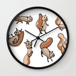 Lots of Sammy Squirrels Wall Clock