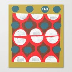 2013 retro calendar Canvas Print