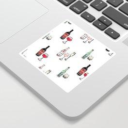 #DrinkWineDay Pattern Sticker