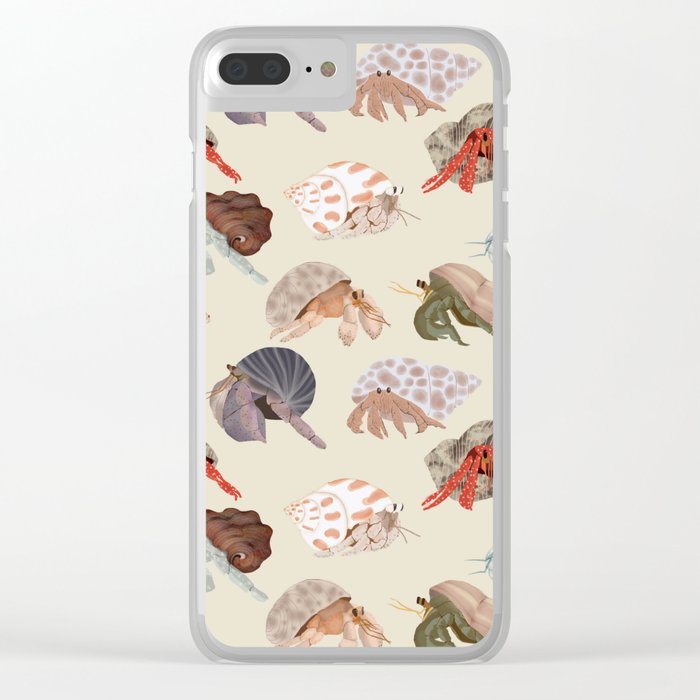 Hermit Crabs Clear iPhone Case