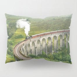 Hogwart Express steam engine in the scottish highlands Pillow Sham