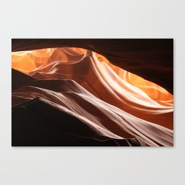slant lines in antelope canyon  Canvas Print
