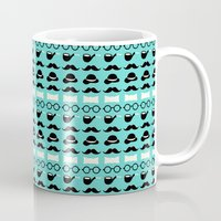 moustache Mugs featuring moustache by lilumon