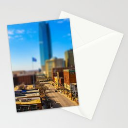 Bricktown Street by Monique Ortman Stationery Cards