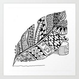 Writer Love Art Print