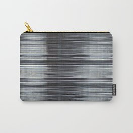 Rain Streaked Metal Stripes Carry-All Pouch